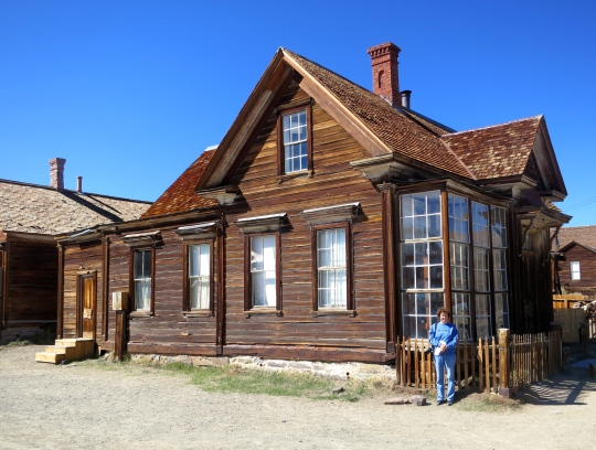 The J.S. Caine residence at Bodie State Historical Park in California.