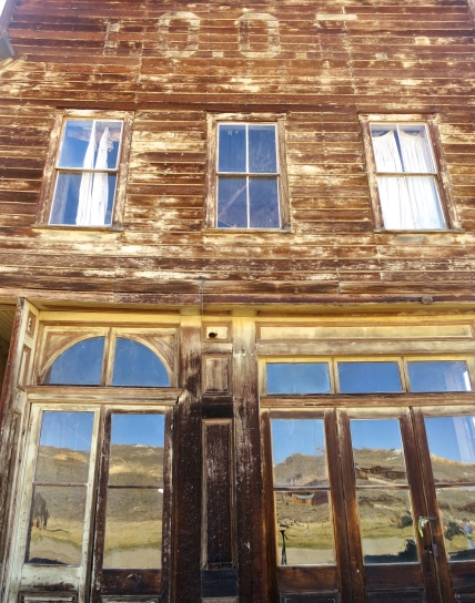 IOOF Hall in the ghost town of Bodie.