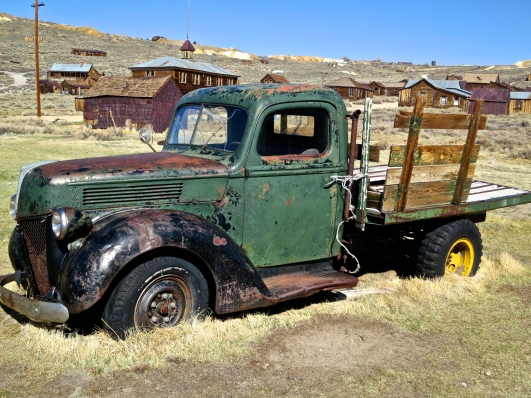An old truck at Bodie State Historical Park in California.