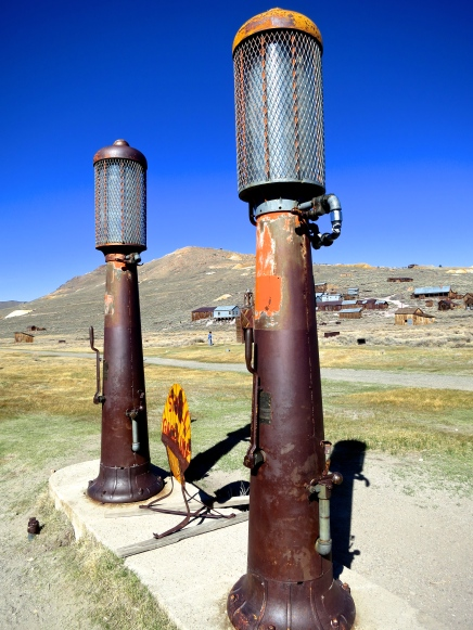 Shell gas station at Bodie State Historical Park in California.