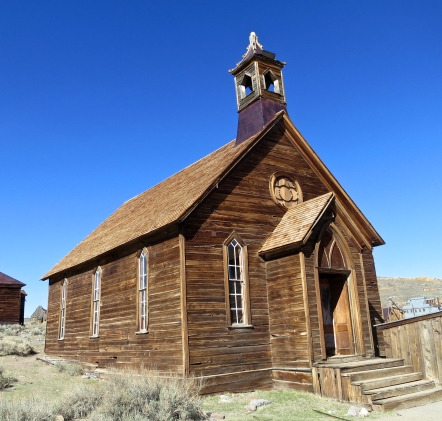 Methodist Church is Bodie State Historical Park in California.