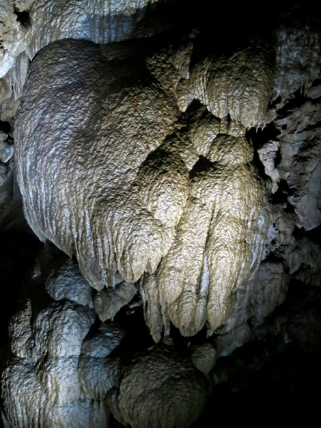Unusual stone structure in Oregon Caves National Monument.