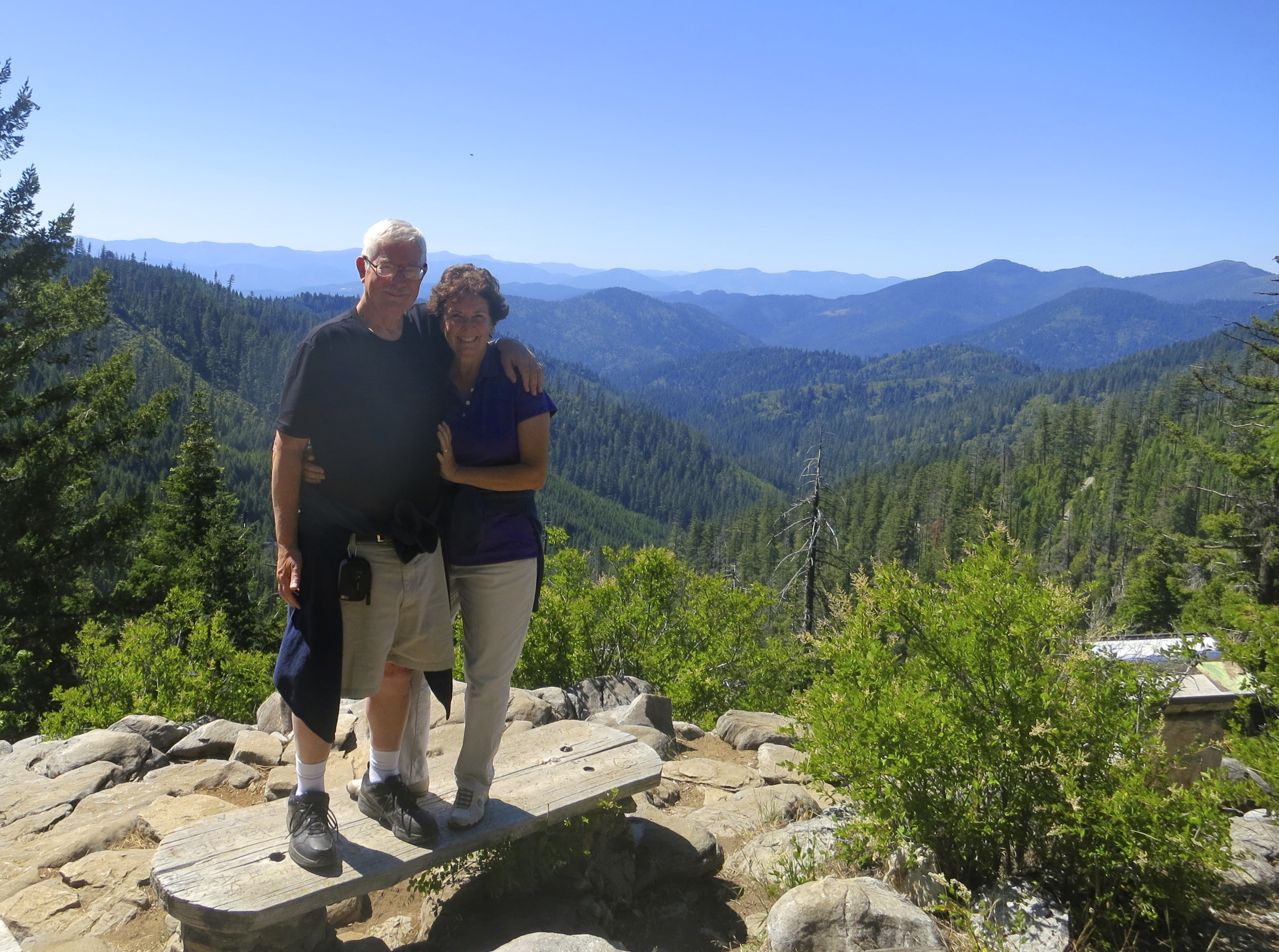 Standing on top of the mountain that contains Oregon Caves National Monument.