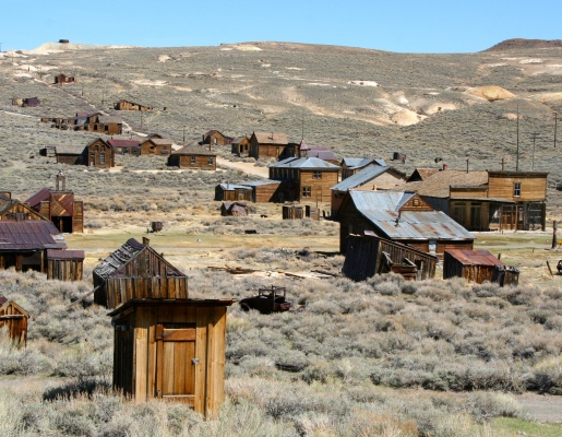 View of the ghost town of Bodie.