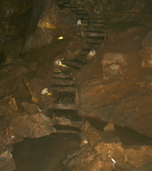 Stone steps in Oregon Caves National Monument