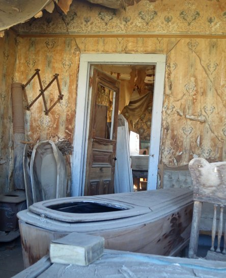 The morgue at Bodie State Historical Park in California.