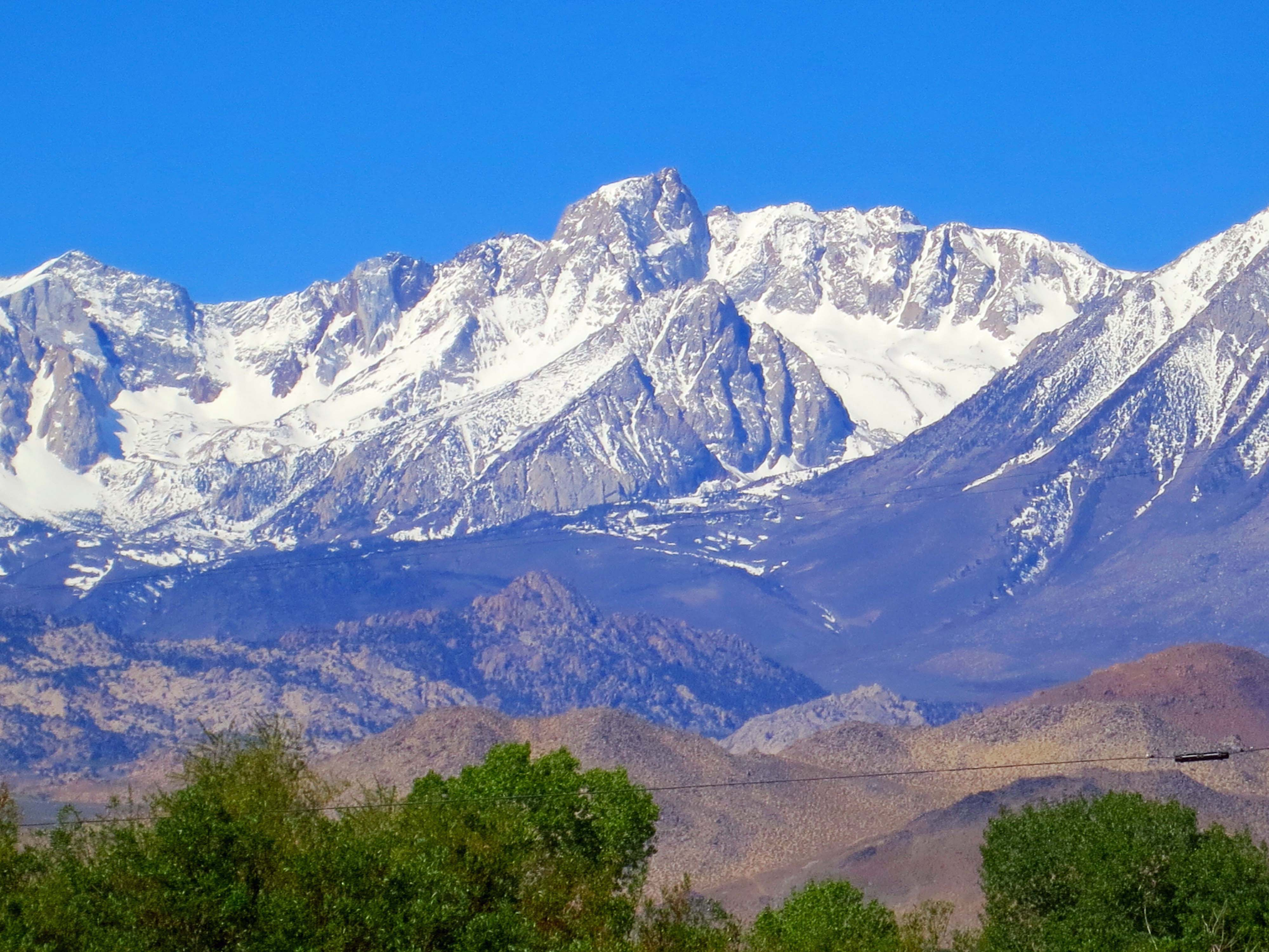 Driving up California's Highway 395 provides and ever changing perspective of the eastern Sierra Nevada Mountains.