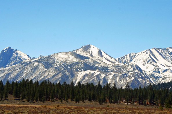 Another view of the Sierra Nevada Mountains along highway 395.