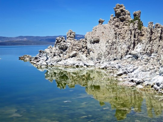 Tufa at Mono Lake near Lee Vining.