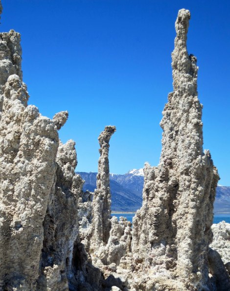 Strange towers made of lime, tufa, give Mono Lake its unique personality.