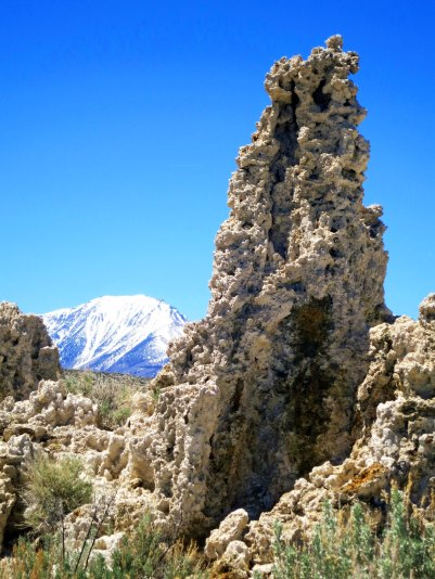 Prior to Los Angeles tapping into the streams that provide water to Mono Lake, this tufa tower would have been underwater.
