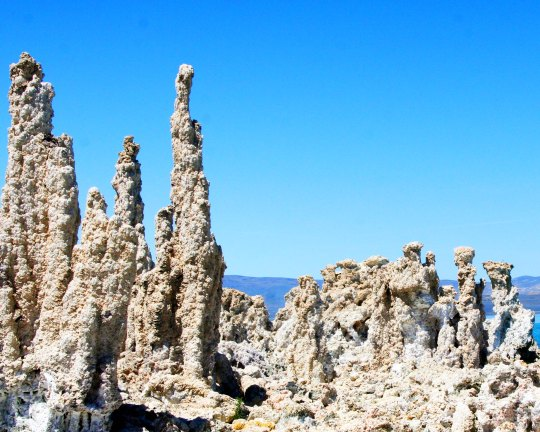 Tufa towers located at Mono Lake, California near Lee Vining.