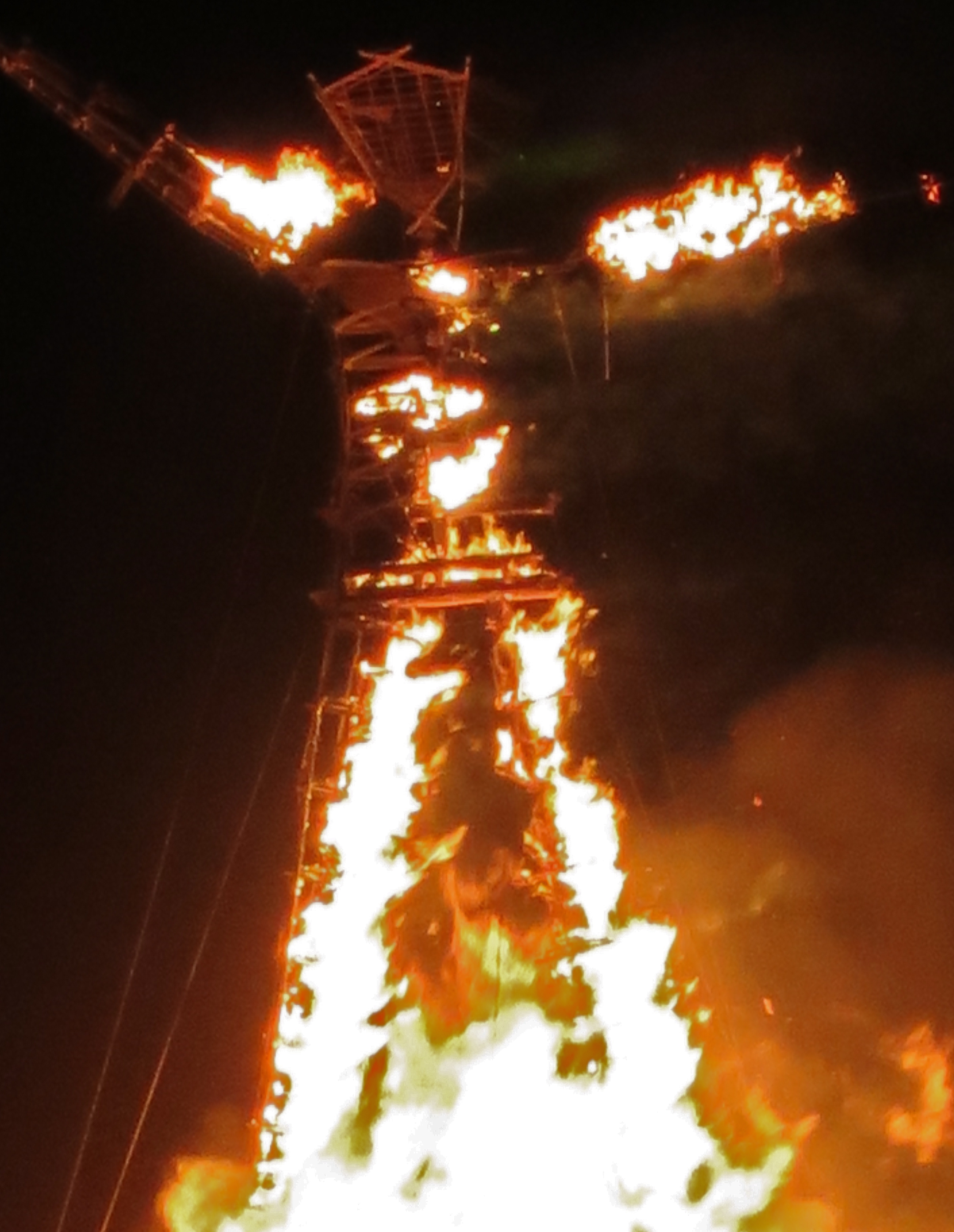 The burning of the Man gives Burning Man its name.