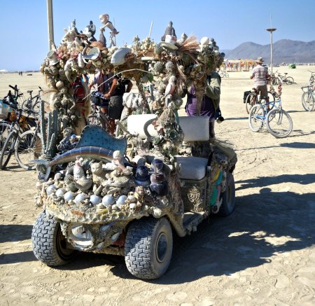 ATV mutant vehicle at Burning Man 2014. Photo by Curtis Mekemson.