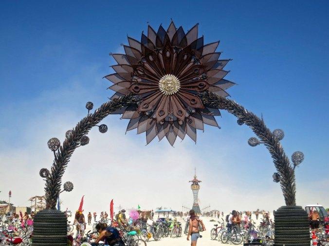 Bike Bridge sculpture at Burning Man 2014.