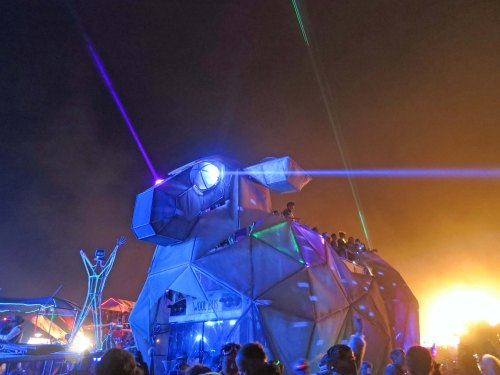 The same bull at night provides a perspective on how dramatically different mutant vehicles look at night.