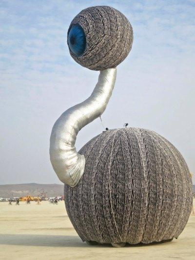 The all seeing eye mutant vehicle at Burning Man 2014. Photo by Curtis Mekemson.