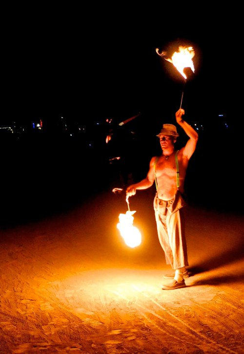 Fire Dancing at Burning Man.