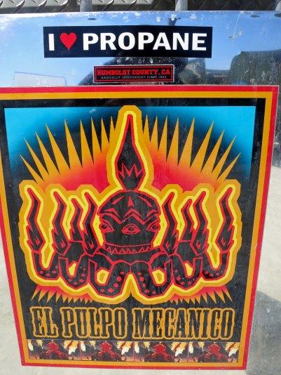 El Pulpo Mechanico sign. Photo by Curtis Mekemson.