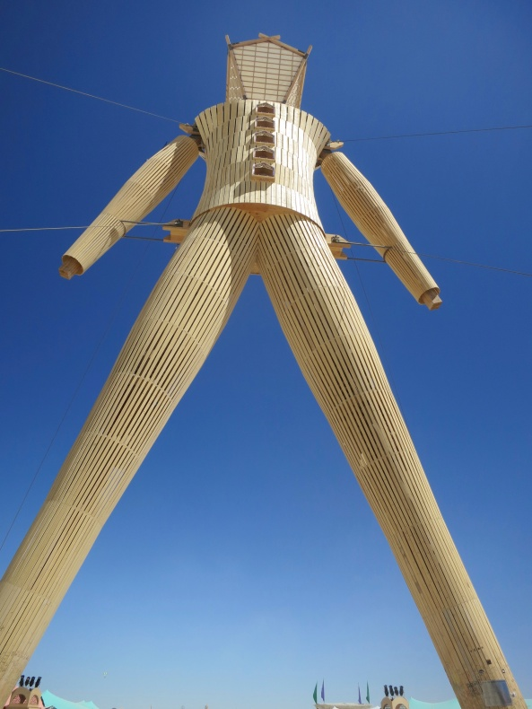 The 2014 Man at Burning Man.