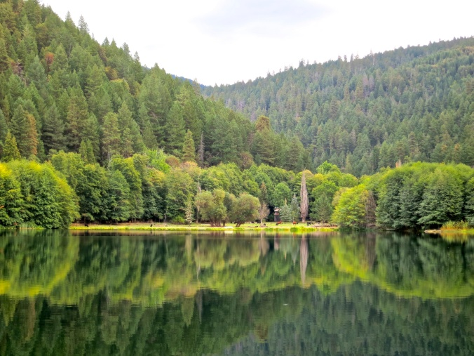Kayaking on the small Squaw Lake in southern Oregon provides beautiful refection shots. Photo by Curtis Mekemson