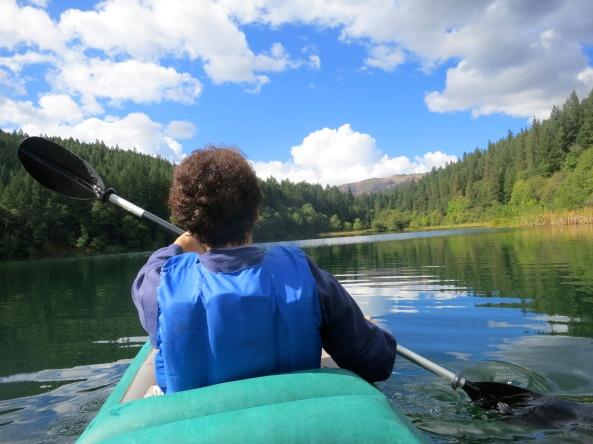 Kayaking on Squaw Lake, Oregon. Photo by Curtis Mekemson.