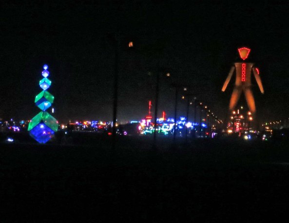 The man at night, Burning Man 2014.