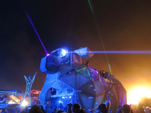Great imagination goes into creating the mutant vehicles of Burning Man. I am not sure what this guy was called but I nicknamed him Mighty Mouse.