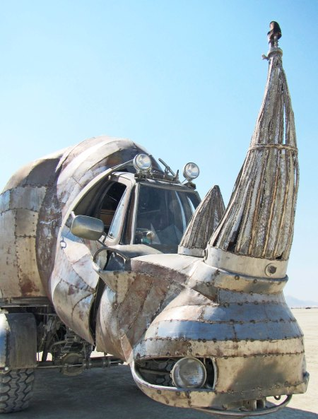 Rhino at Burning Man 2014.