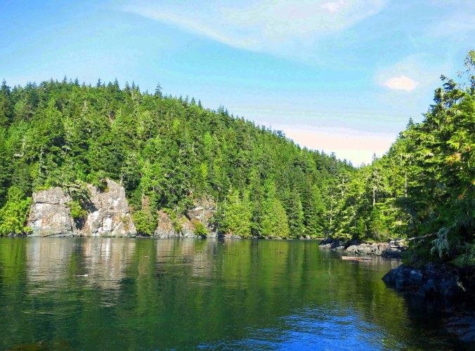 Sea Kayak Adventures campsite on Hanson Island in the Johnstone Strait, British Columbia.