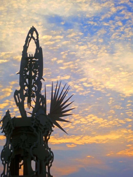 Gateway pillar at Temple of Grace, Burning Man 2014. Photo by Curtis Mekemson.