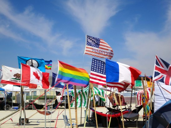 Flags of Burning Man 2014. Photo by Curtis Mekemson.