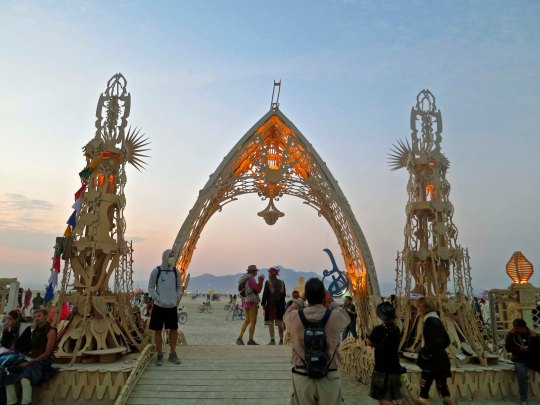 Gateway to Temple of Grace at Burning Man 2014. Photo by Curtis Mekemson.