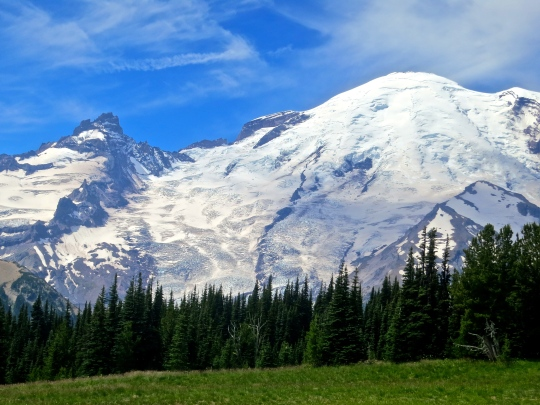View from Sunrise Visitors center at mt. Rainier National Park. Photo by Curtis Mekemson.