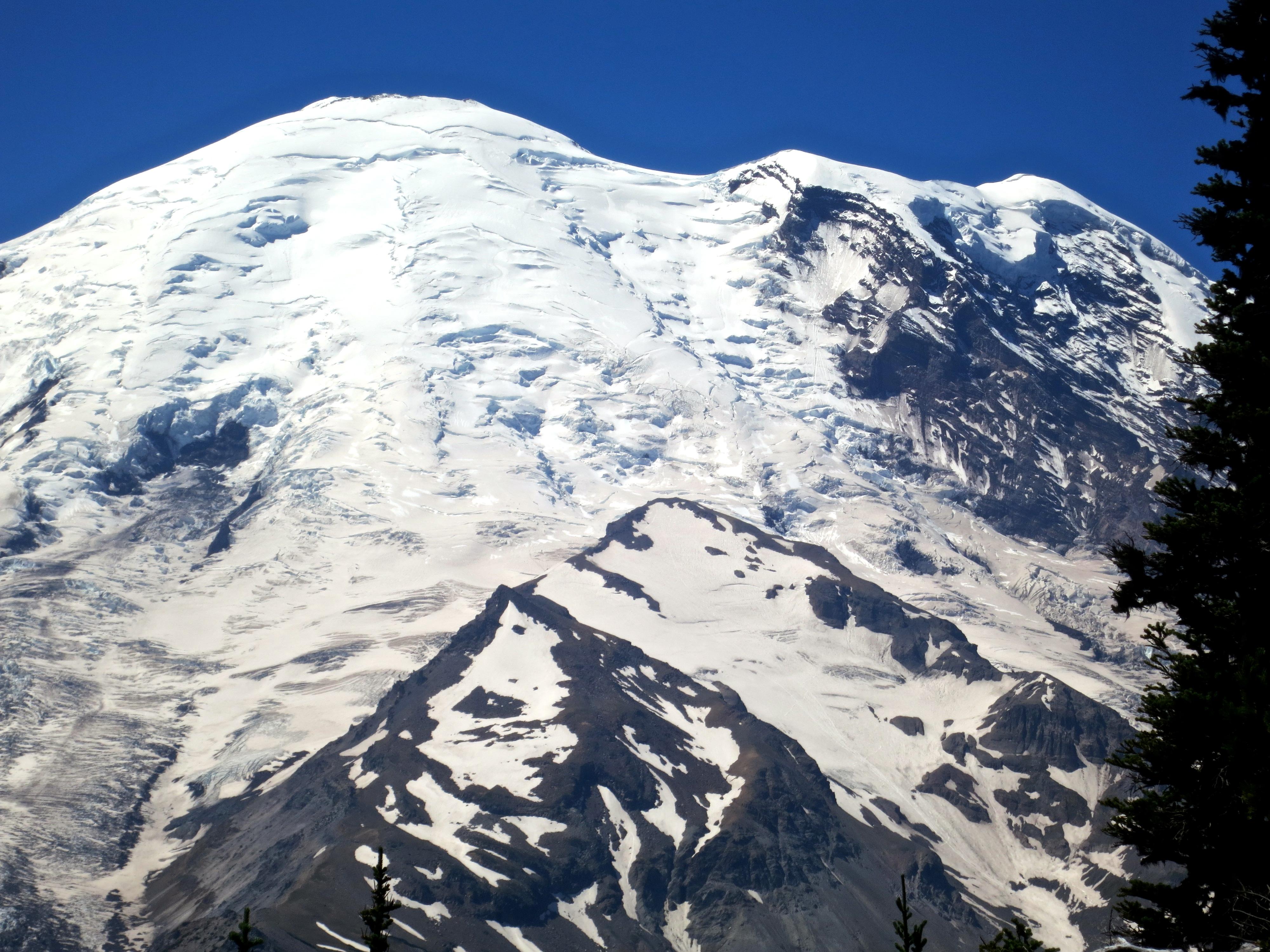 Close-up of Emmons Glacier at Mt Rainier National Park. Photo by Curtis Mekemson.