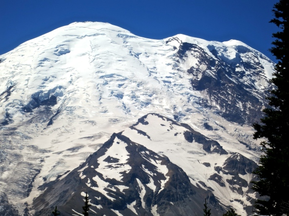 Close-up of Emmons Glacier at Mt Rainier National Park. Photo by Curtis Mekemson.