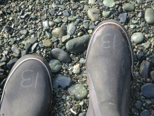 Rubber boots issued by Sea Kayak Adventures.