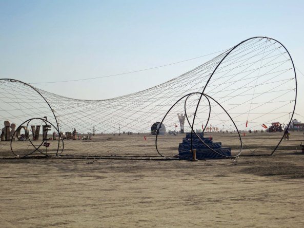 Geometric sculpture at Burning Man 2014. Photo by Curtis Mekemson.