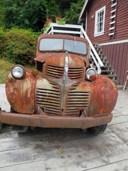 Old Dodge Truck at Telegraph Cove on Vancouver Island. Photo by Curtis Mekemson.