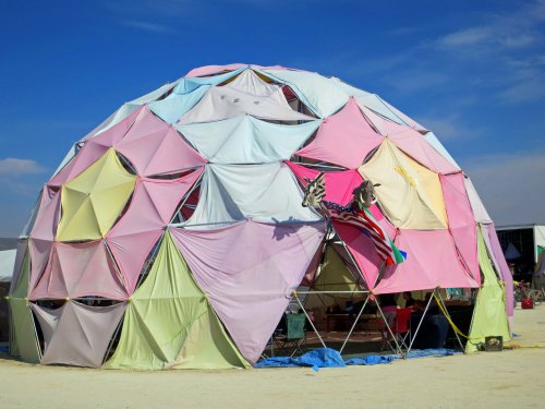 Pastel dome at Burning Man 2014. Photo by Curtis Mekemson.