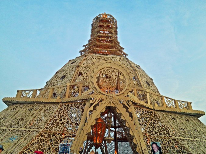 View of Temple of Grace at Burning Man 2014. Photo by Curtis Mekemson.