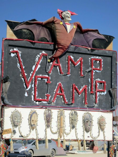 Vamp Camp at Burning Man 2014. Photo by Curtis Mekemson.