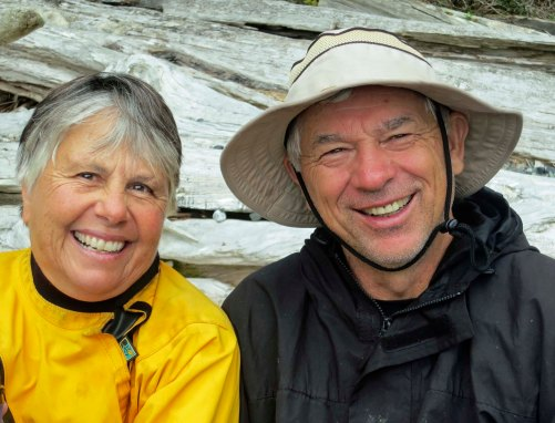 Back at the beach I found smiling faces— Wendy and Dennis.