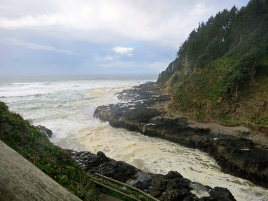The Devi's Churn on the coast of Oregon. Photo by Curtis Mekemson.