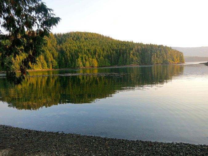 Evening on Compton Island, Blackfish Sound, British Columbia. Photo by Curtis Mekemson.