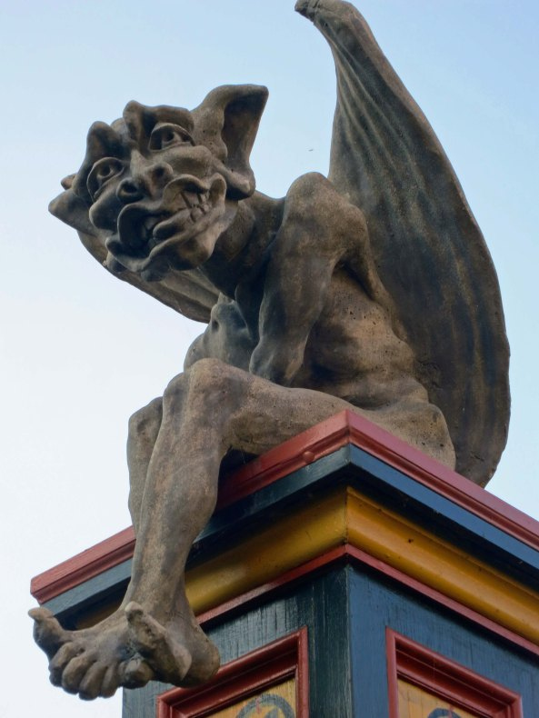 Gargoyle at Albion Inn in British Columbia. Photo by Curtis Mekemson.