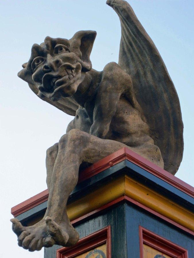 Gargoyle at Albion Inn in British Columbia. Photo by Curtis Mekemson.