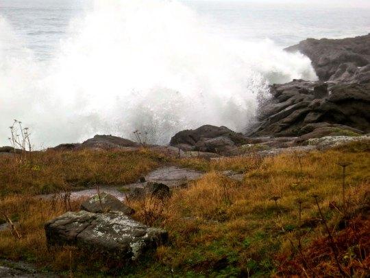 Dramatic waves crash ashore on the Oregon coast. Photo by Curtis Mekemson.