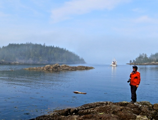 Fishing boat in Johnstone Strait off of Hanson Island. Photo by Curtis Mekemson.
