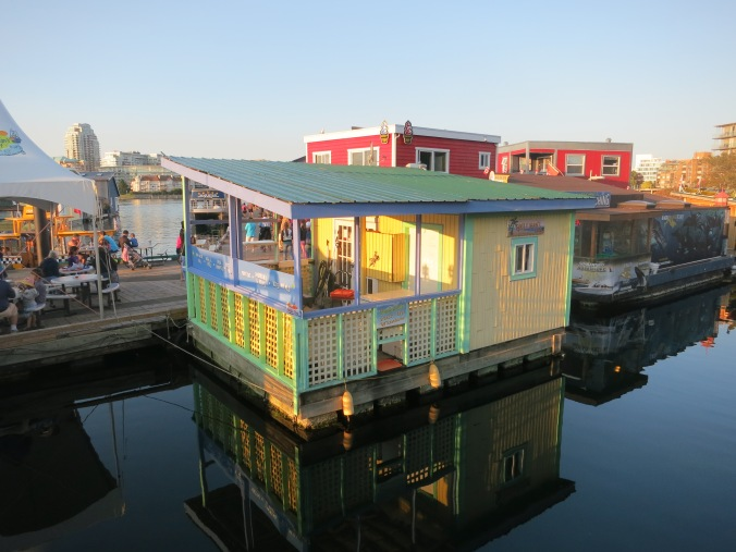 Houseboat at Fisherman's Wharf, BC. Photo by Peggy Mekemson.